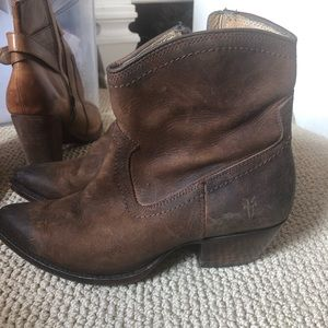 Pointy Frye booties